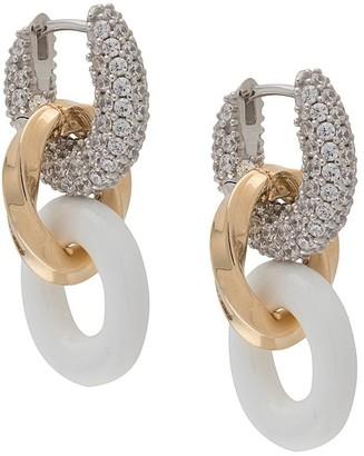 Bottega Veneta Crystal-Embellished Chain Earrings