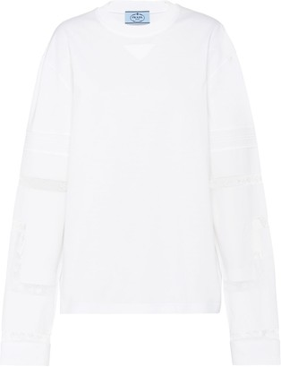 Prada oversized crew neck T-shirt