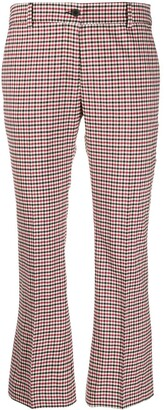 Alberto Biani Tailored Gingham Cropped Trousers