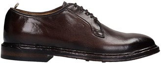 Officine Creative Hopkins Lace Up Shoes In Brown Leather
