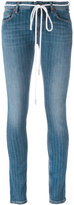 Off-White pinstripe skinny jeans - women - Cotton/Spandex/Elastane - 25