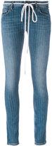 Off-White pinstripe skinny jeans - women - Cotton/Spandex/Elastane - 28
