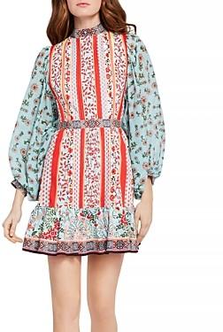 Alice + Olivia Raya Mandarin-Collar Dress