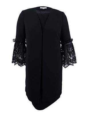 Tahari by Arthur S. Levine Women's Jacket Dress Suit with Lace Ruffle Sleeve