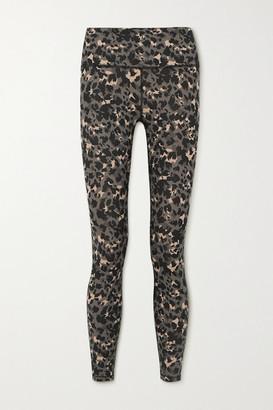 Varley Century Leopard-print Stretch Leggings - Black