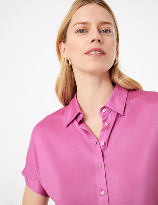Marks and Spencer Jersey Straight Fit Short Sleeve Shirt