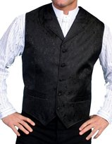 Scully Old West Vest Mens Paisley Formal Polyester RW093