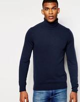 United Colors Of Benetton 100% Merino Wool Roll Neck Jumper
