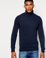 Benetton 100% Merino Wool Roll Neck Sweater