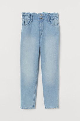 H&M Relaxed Fit High Jeans - Blue