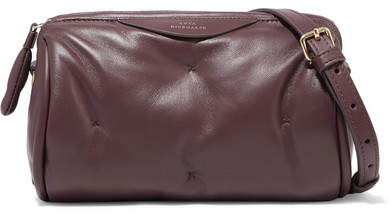 Anya Hindmarch Chubby Barrel Quilted Leather Shoulder Bag - Merlot