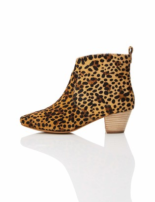 Find. Amazon Brand Women's Ankle Boots Brown Leopard) US 5