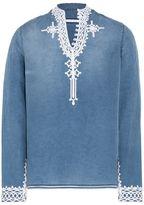 Stella McCartney denim embroidered shirt