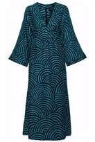 Vanessa Seward Gathered Silk-Jacquard Midi Dress