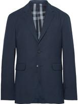 Burberry Blue Slim-Fit Woven Blazer
