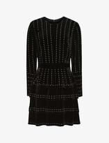 Thumbnail for your product : Reiss Angie stud-detail velvet mini dress