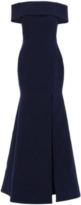 Rachel Gilbert Hadley Off-the-shoulder Cutout Ponte Gown
