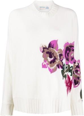 Ballantyne Floral Intarsia Jumper