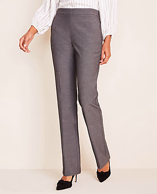 Ann Taylor The Side Zip Straight Pant in Bi-Stretch