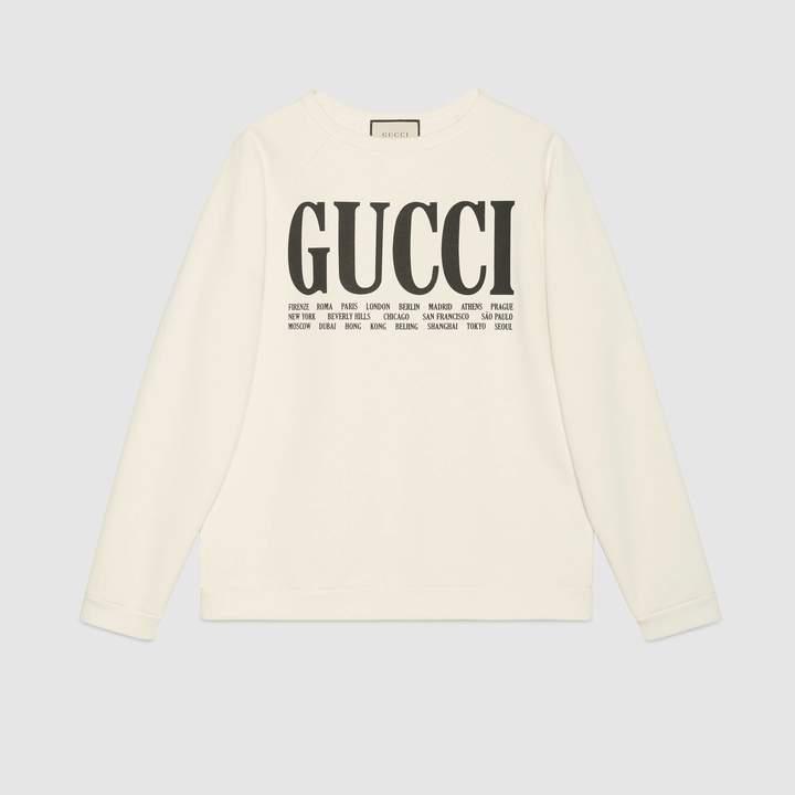 Gucci Cities cotton sweatshirt