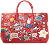 Anya Hindmarch Women's Ebury Maxi II Allover Wink Stickers Tote Bag