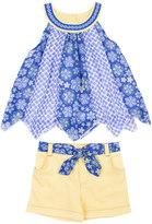 Little Lass Toddler Girl Floral Swing Tank Top & Cuffed Shorts Set