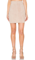 Bardot Pebble Suede Mini Skirt