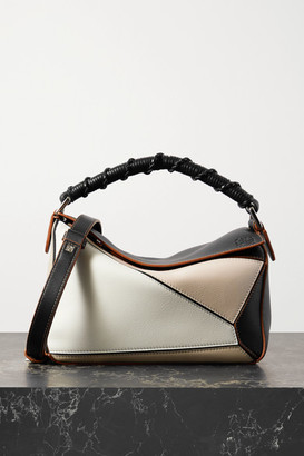 Loewe Puzzle Small Color-block Leather Shoulder Bag - Brown