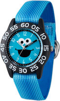 Sesame Street Boys Blue Cookie Monster Time Teacher Strap Watch W003149
