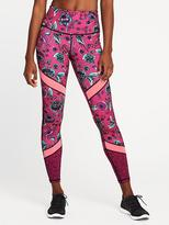Old Navy Go-Dry High-Rise Floral Compression Leggings for Women