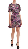 Kate Spade pacific petals smocked ruffle dress