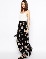 Asos Maxi Skirt In Floral Print - Multi