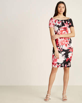 Calvin Klein Red Floral Sheath Dress