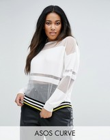 Asos Sweater with Sheer Stripes