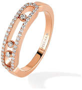 Messika Move Classique 0.25ct Pave Set Diamond Ring in 18ct Rose Gold