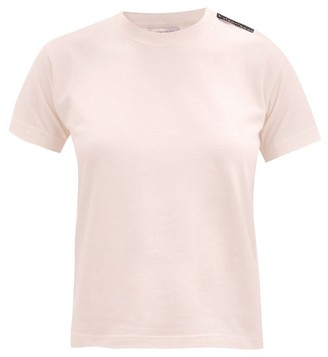 Balenciaga Bb-logo Print Cotton T-shirt - Light Pink