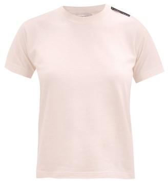 Balenciaga Logo-tab Cotton T-shirt - Light Pink