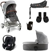 Mamas and Papas Urbo2 6 Piece bundle (Pushchair & Carrycot, Car Seat, Isofix base, adaptor & Cup holder)