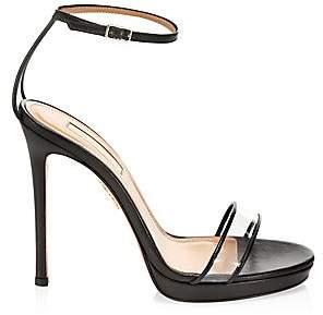 Aquazzura Women's Minimalist Ankle Strap Stiletto Sandals