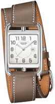 Hermes Cape Cod 29MM Stainless Steel & Leather Double-Wrap Strap Watch