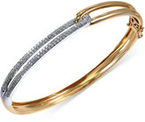 Effy Duo by Diamond Two-Tone Bangle (5/8 ct. t.w.) in 14k Gold and 14k White Gold