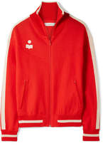 Etoile Isabel Marant Darcy Striped Stretch-knit Track Jacket - Red