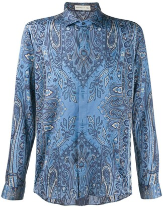 Etro Paisley Print Long-Sleeve Shirt