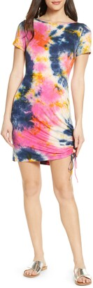 Fraiche by J Tie Dye Ruched T-Shirt Dress