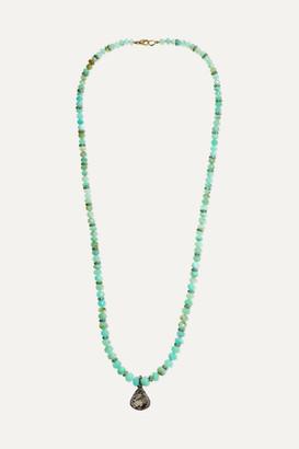 Loree Rodkin 18-karat Yellow And Rhodium White Gold Multi-stone Necklace