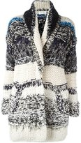 Chloé striped chunky knit cardigan - women - Cotton/Linen/Flax/Polyamide/Viscose - S