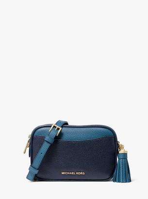 MICHAEL Michael Kors Jet Set Small Two-Tone Pebbled Leather Convertible Belt Bag