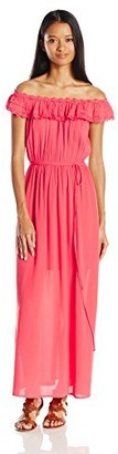 Speechless Junior's Off The Shoulder Maxi Dress