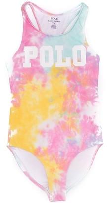 Ralph Lauren Kids tie-dye print swimsuit