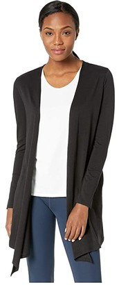 tasc Performance Balance Cardigan (Black) Women's Sweater